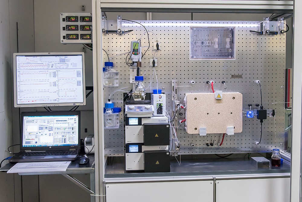 pilot plant for continuous nanoparticle synthesis